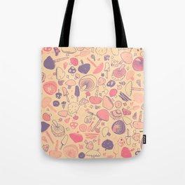 Vintage Mushroom Pattern Tote Bag