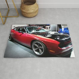 2014 Auto Show Prototype Scat Pack Two Tone Challenger with shaker hood Rug