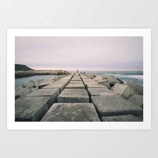 The seawall Art Print