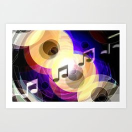 Music and painting. Art Print