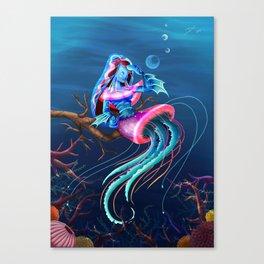 Mrs. Jellyfish Canvas Print