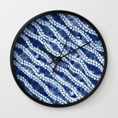 Shibori three Wall Clock