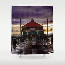 Ruby's End (Surf City) Shower Curtain