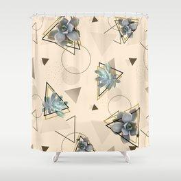 Pretty Succulents #society6 #decor #buyart Shower Curtain