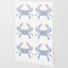 Tribal Blue Crab Wallpaper