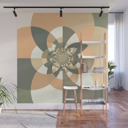 Beige Peach Kaleidoscope Wall Mural
