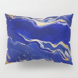 Lapis Lazuli Liquid Art Pillow Sham