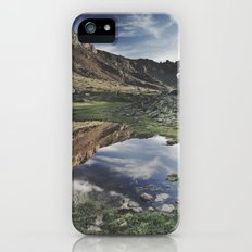Dream Lake at the mountains. Retro iPhone (5, 5s) Slim Case