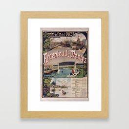 Chemins de fer de l'Ouest. Argenteuil à Mantes, 1893, dessin de Fraipont, Gustave Framed Art Print