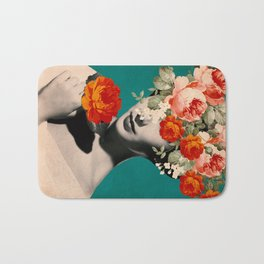 WOMAN WITH FLOWERS Bath Mat