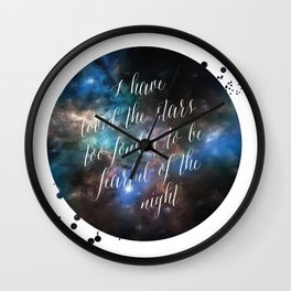 Loved the Stars Wall Clock