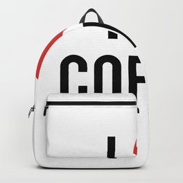 I love coffee, with red heart Backpack