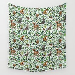 Woodland Animal Friends Wall Tapestry
