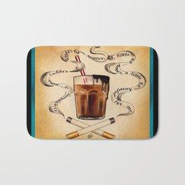 Cigarettes and Chocolate Milk Bath Mat