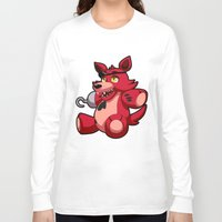 fnaf Long Sleeve T-shirts featuring Foxy the Plush by GlacierK