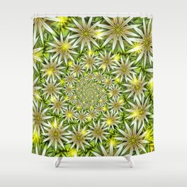 Flower Spirals Shower Curtain