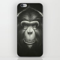 tooth iPhone & iPod Skins featuring Monkee with Tooth by Dr. Lukas Brezak