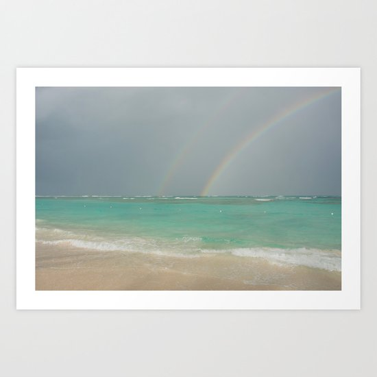 Double rainbow Punta cana Art Print