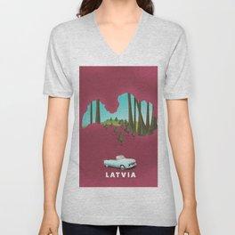 Latvia Unisex V-Neck