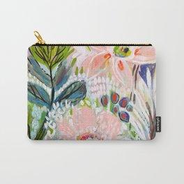 Bohemian Flower Garden Carry-All Pouch