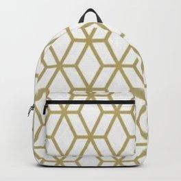 MCM Gold Geometric Backpack
