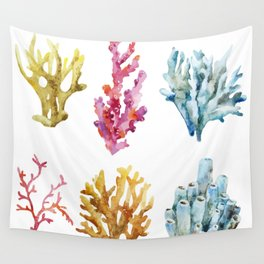 Colorful Chorals Wall Tapestry