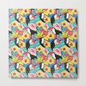 Toucan floral pattern by lidiebug