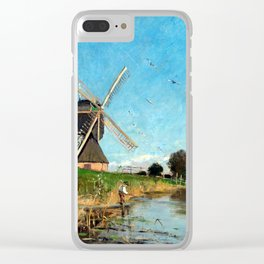 Carl Skånberg Landscape with Windmill Clear iPhone Case