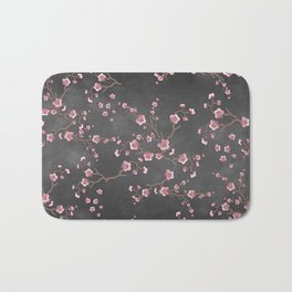 SAKURA LOVE - GRUNGE BLACK Bath Mat