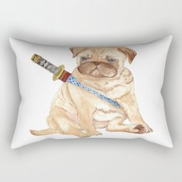 Ninja Pug Rectangular Pillow