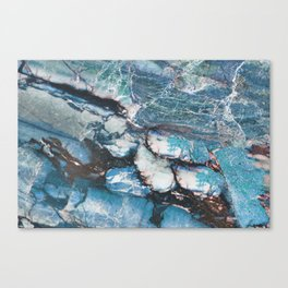Turquoise Blue Marble Canvas Print