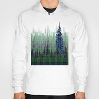plaid Hoodies featuring Plaid Forest by LindaWexlerArt