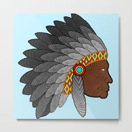Tribal Chief Metal Print