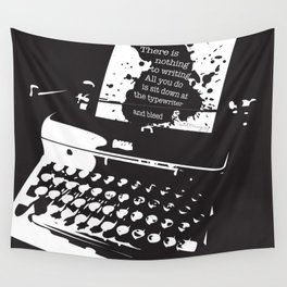 Ernest Hemingway Quote Wall Tapestry