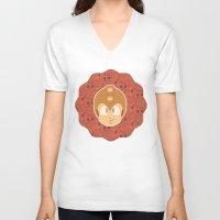 megaman V-neck T-shirts featuring Megaman by Kuki