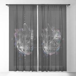 La Loba (Black) Sheer Curtain