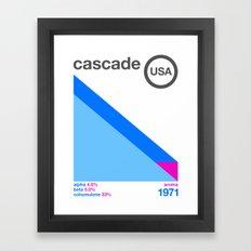 cascade//single hop Framed Art Print
