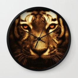 Midnight Tiger Wall Clock