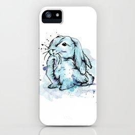 Blue rabbit iPhone Case