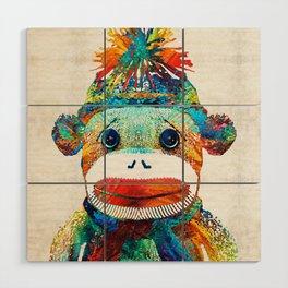 Sock Monkey Art - Your New Best Friend - By Sharon Cummings Wood Wall Art