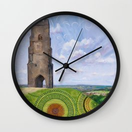 Summer spirit - Glastonbury Tor, Somerset, England Wall Clock