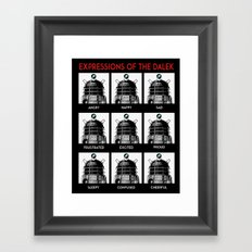 Expressions Of The Dalek Framed Art Print