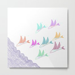 Fishes flying high, you know how I feel Metal Print