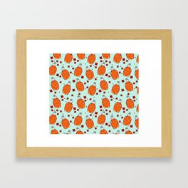 Super Canadian Maple Syrup Pattern Framed Art Print