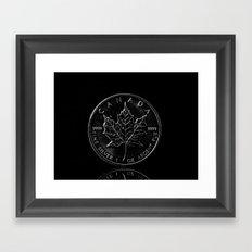 Silver Dollar Framed Art Print