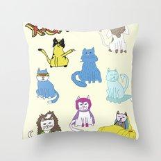 X-CATS Throw Pillow