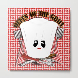 Queen of the Grill Metal Print