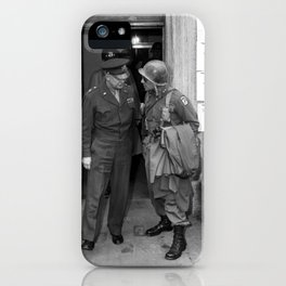 General Eisenhower and General Ridgway -- WW2 iPhone Case