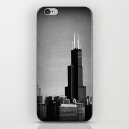 Black and White Chicago Sky iPhone Skin