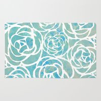 succulents Area & Throw Rugs featuring Succulents by Chilligraphy